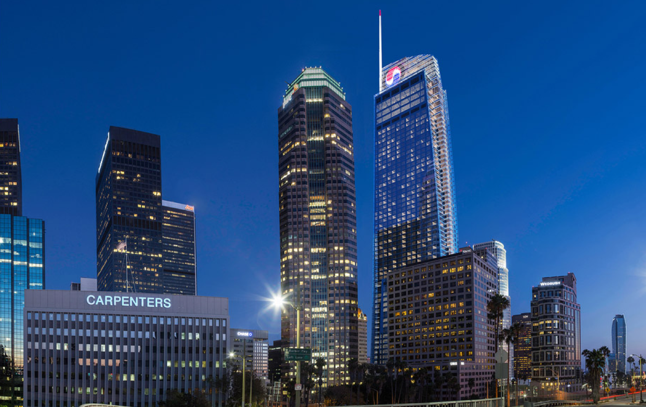 Wilshire Grand Center Set To Become Los Angeles 39 Tallest