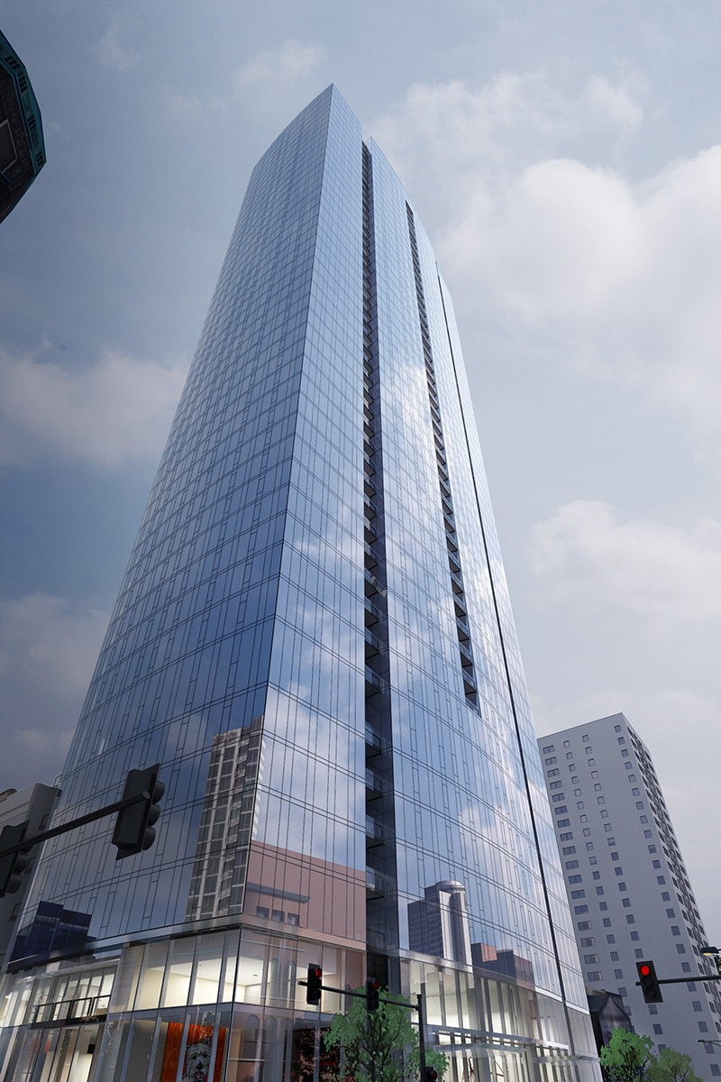 Construction begins on 45 storey 505 project skyrisecities for Build on your land nashville tn