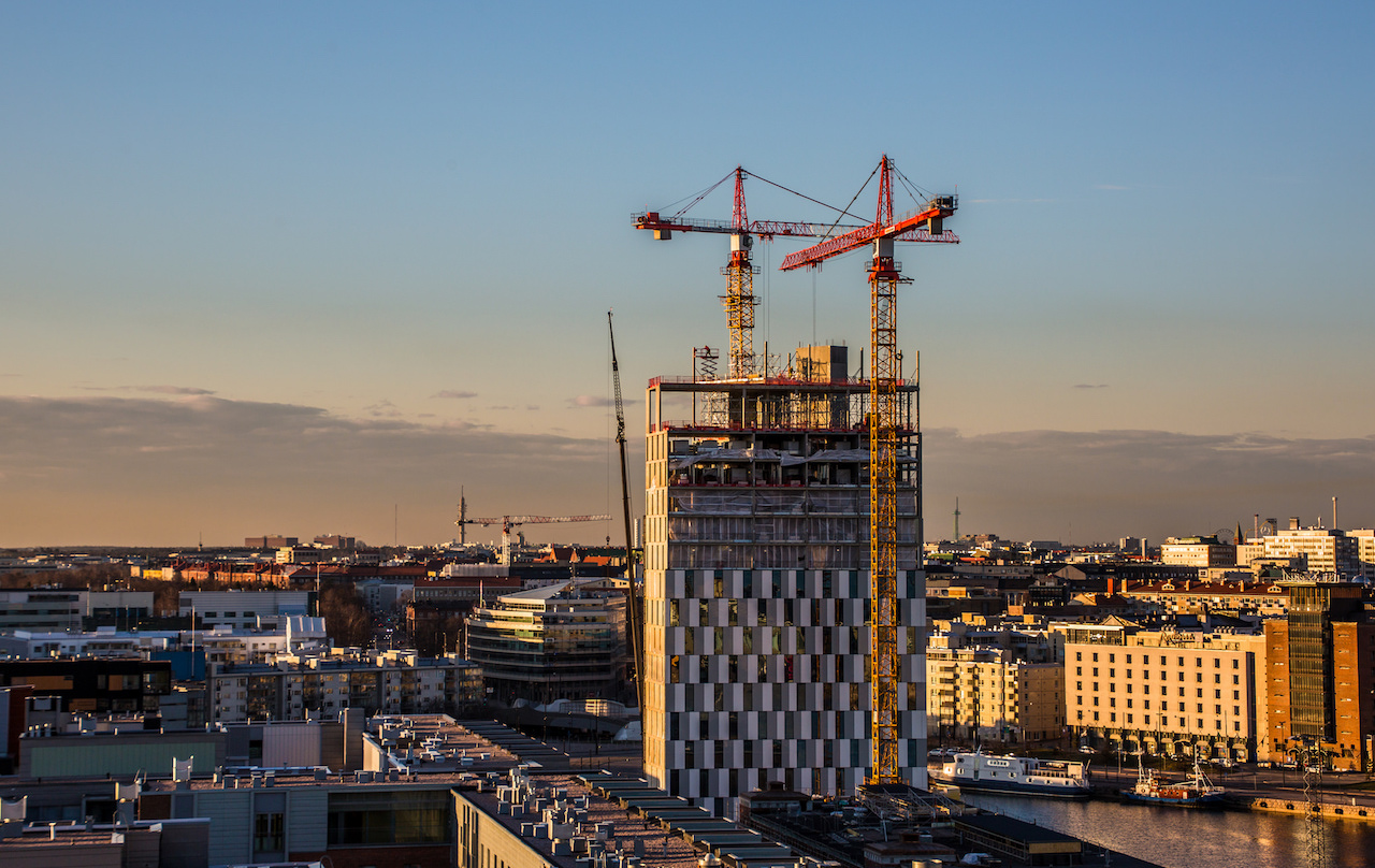cladding rising on topped off clarion hotel helsinki. Black Bedroom Furniture Sets. Home Design Ideas