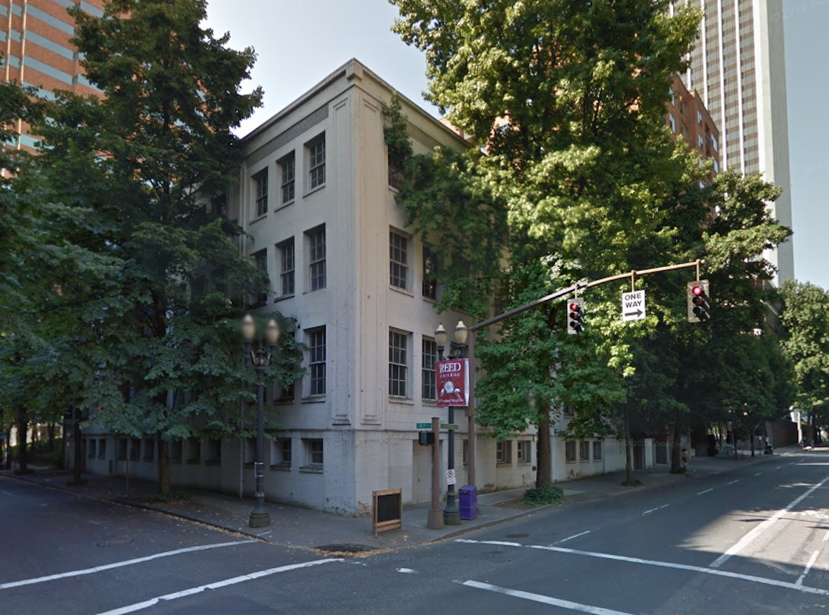 Former structure on the future site of the porter hotel c 2011 image via google maps