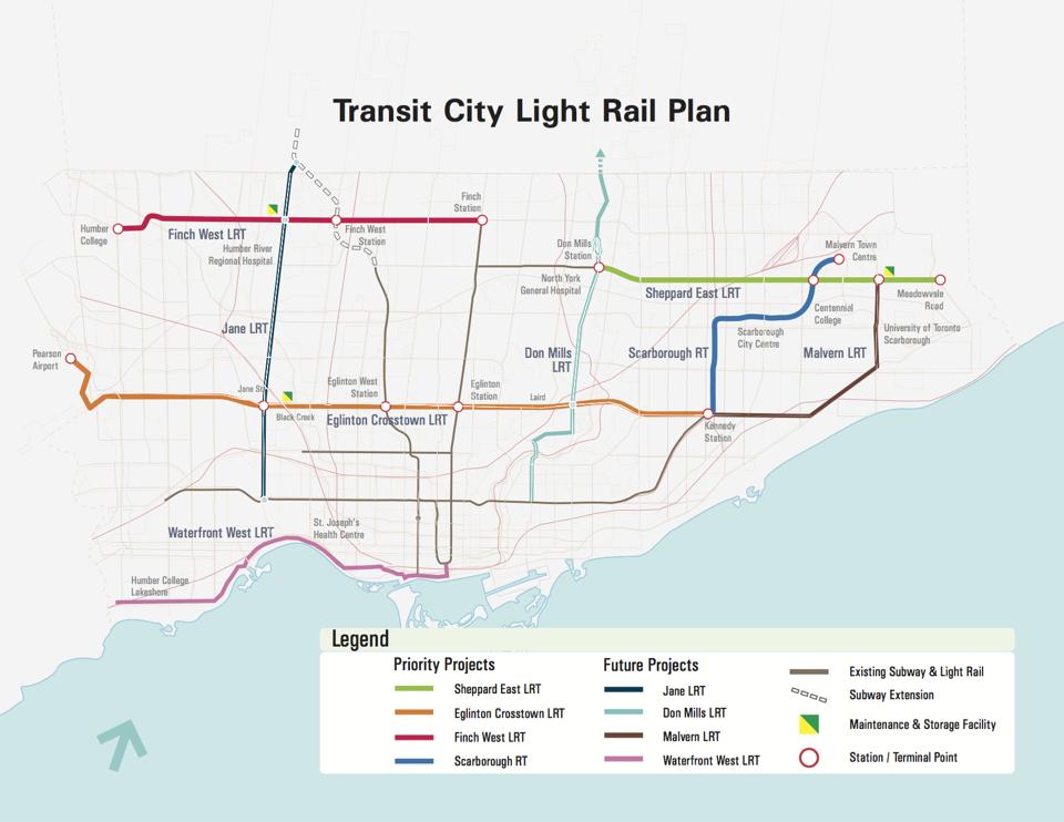 Eglinton Subway Map.Eglinton Up In The Air City Council Discusses Transit Urbantoronto