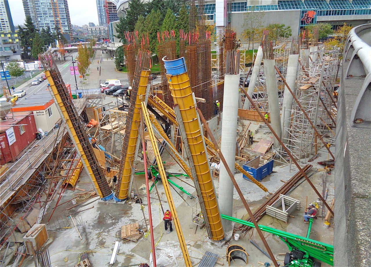 New Photos Show Aquilini Centre South Rising Above Ground Level