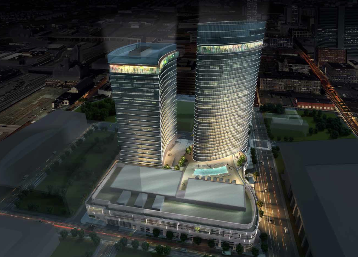 Early Version Of The Jw Marriott Hotel And Office Tower Via Turnberry Ociates