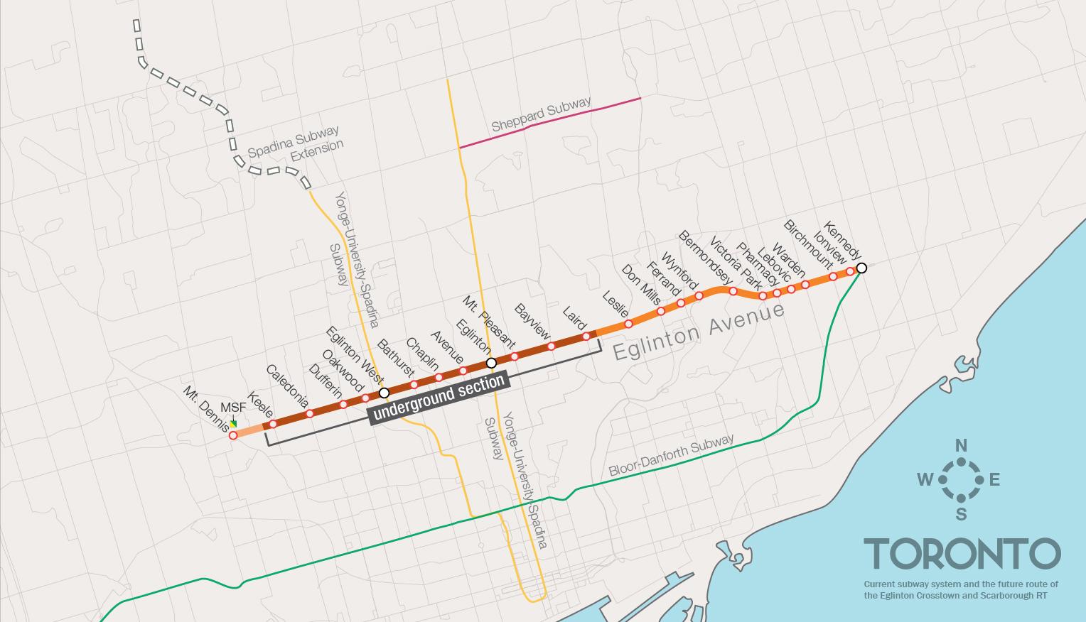 Eglinton Subway Map.Metrolinx Finalizes Station Names For Crosstown Lrt Urbantoronto