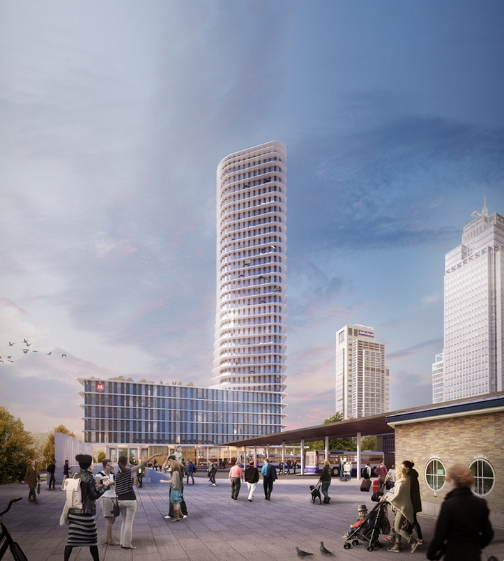 Tallest Residential And Hotel Tower Rising In Amsterdam