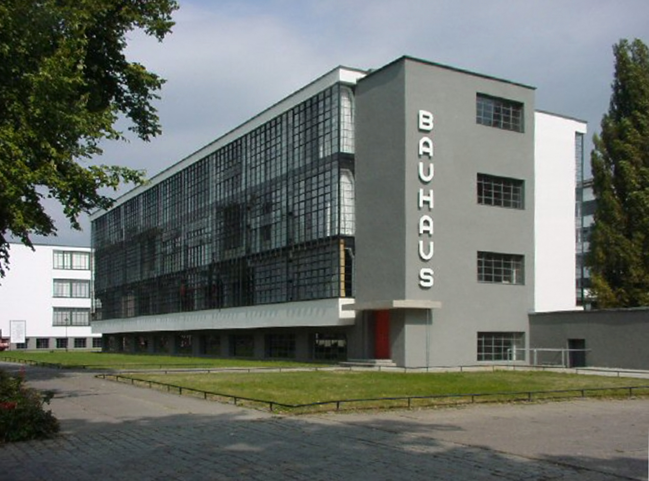 Bauhaus School (1925 26), By Walter Gropius, Located In Dessau, Germany,  Public Domain Image Via Wikimedia Commons