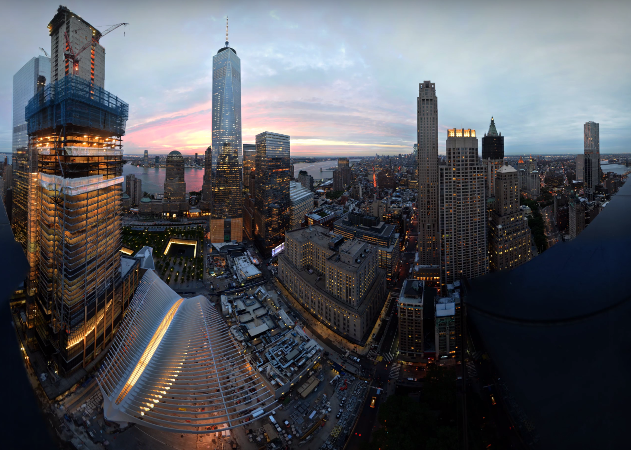 Watch 5 years of world trade center oculus construction in 2 minutes panorama of the completed oculus image via earthcam gumiabroncs Gallery