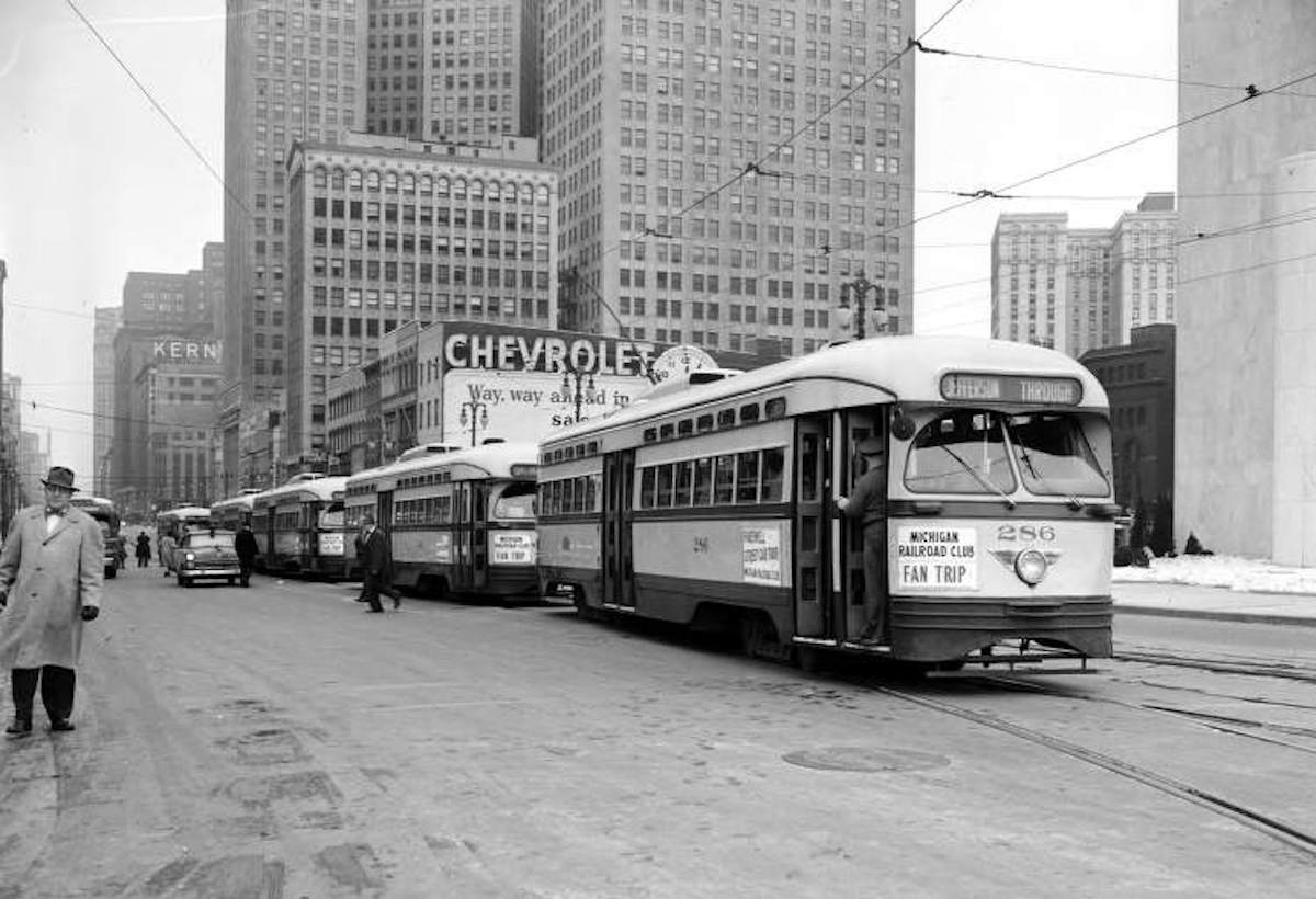 Once Upon a Tram: A Century of Riding the Rails in Motor City ... Detroit Streetcar Map on