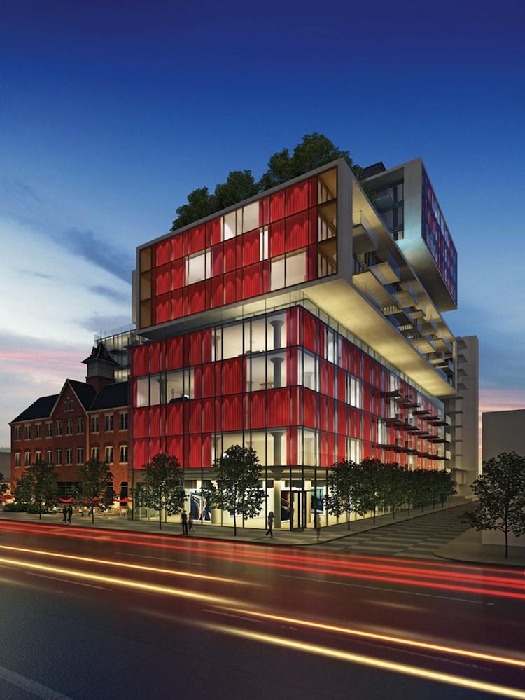 Superb 14 Storey Version Of Fashion House, Image Via Freed Developments