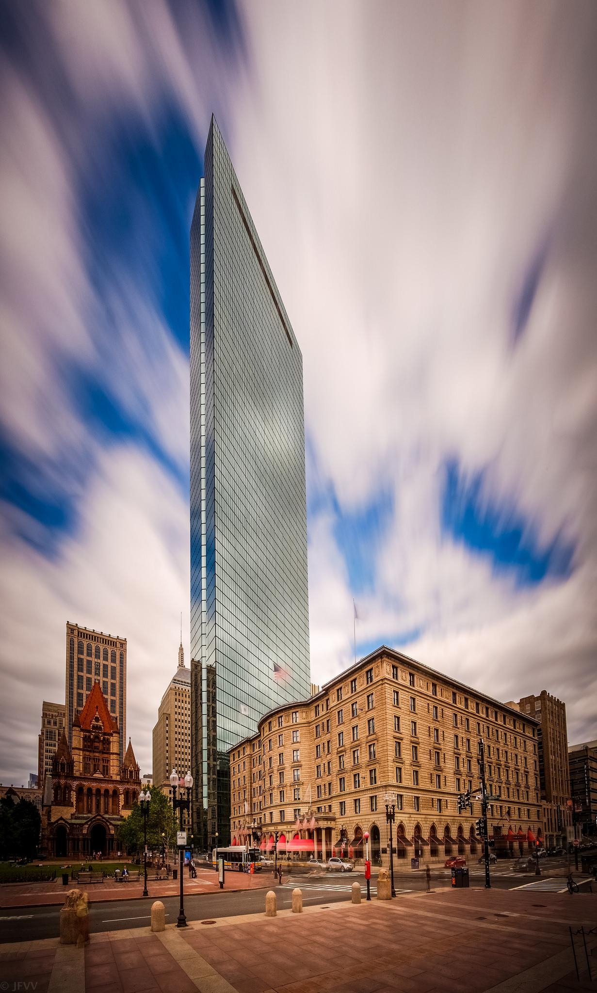Long Exposure View of Boston's John Hancock Tower