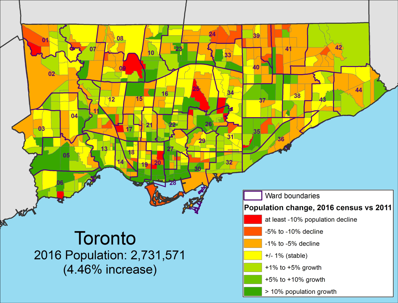 The 2016 Census: Mapping Toronto's Potion Growth ... Census Tract Maps on census block, census region, census survey, census form,