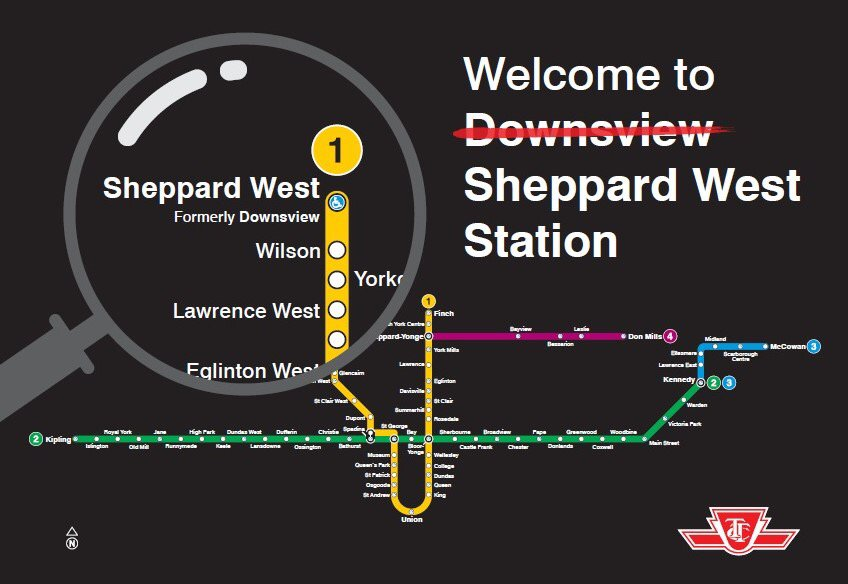 Subway Map Ttc.Ttc Renaming Downsview Station As Sheppard West In May Urbantoronto