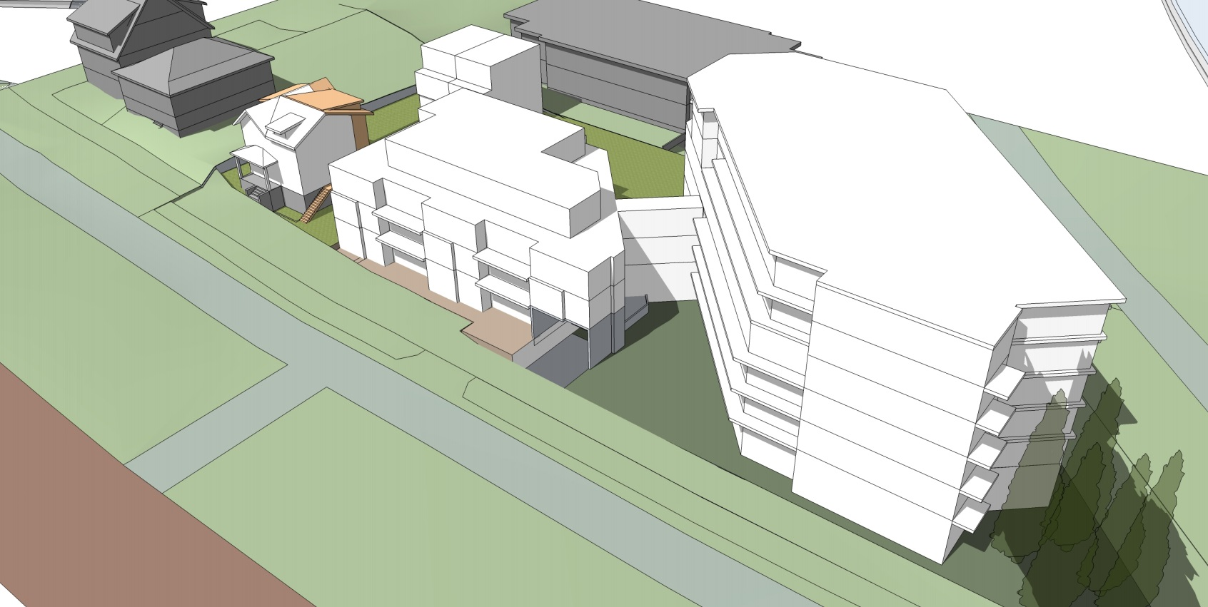 Work Begins for a Rental Complex at Commercial Drive and
