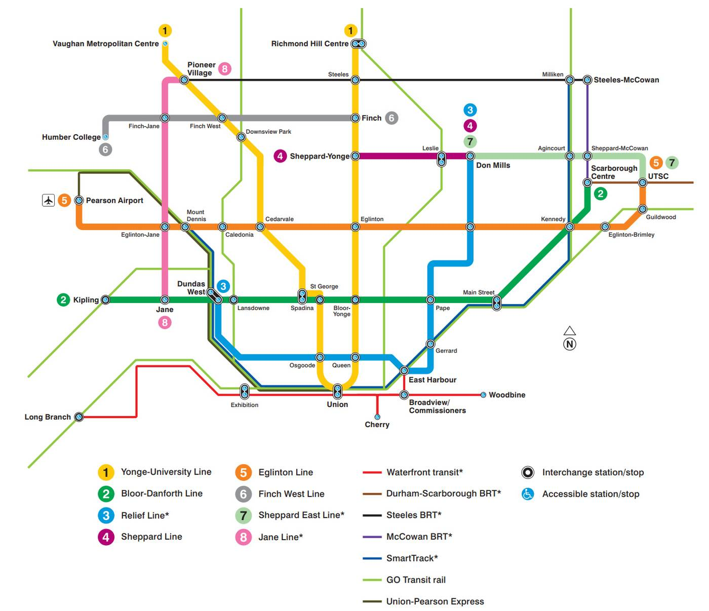 Toronto Subway Stations Map.Closer To Reality Relief Line Advances With Contract Website Urbantoronto