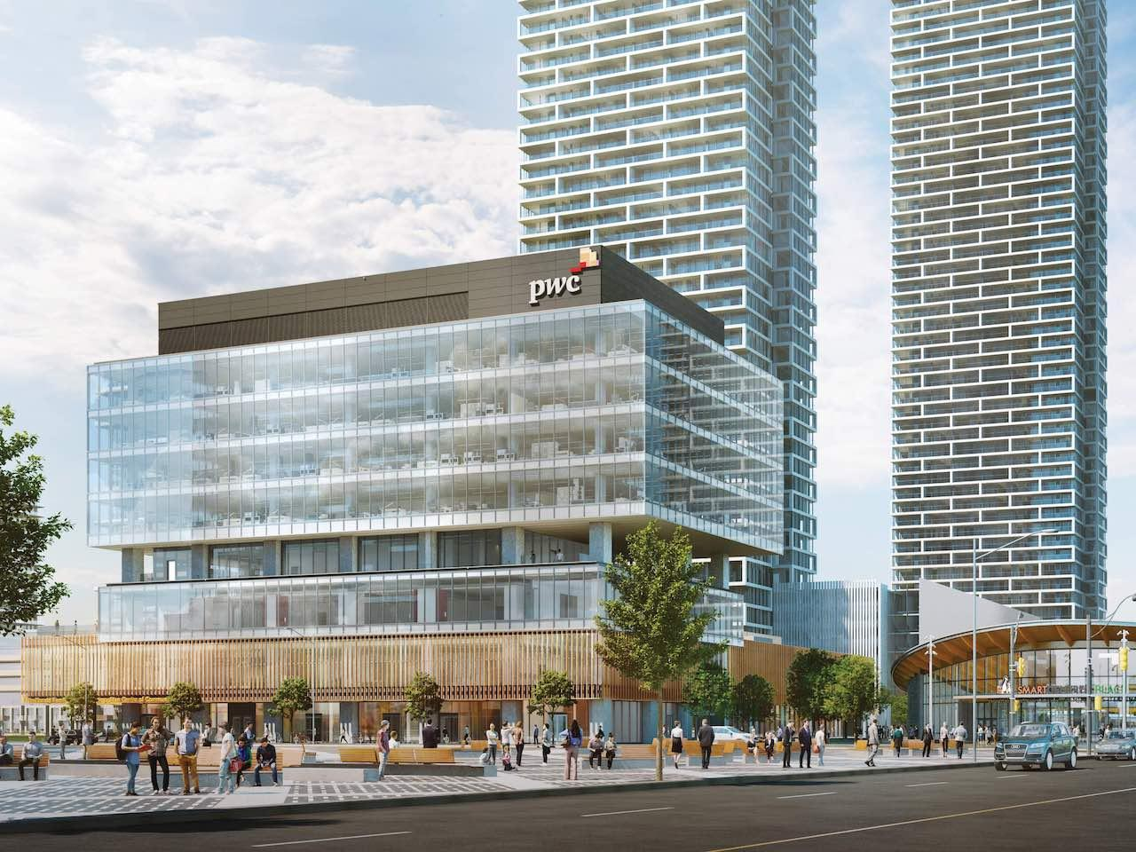 Vaughan Centre PwC Tower Topped Out and Enclosed | UrbanToronto
