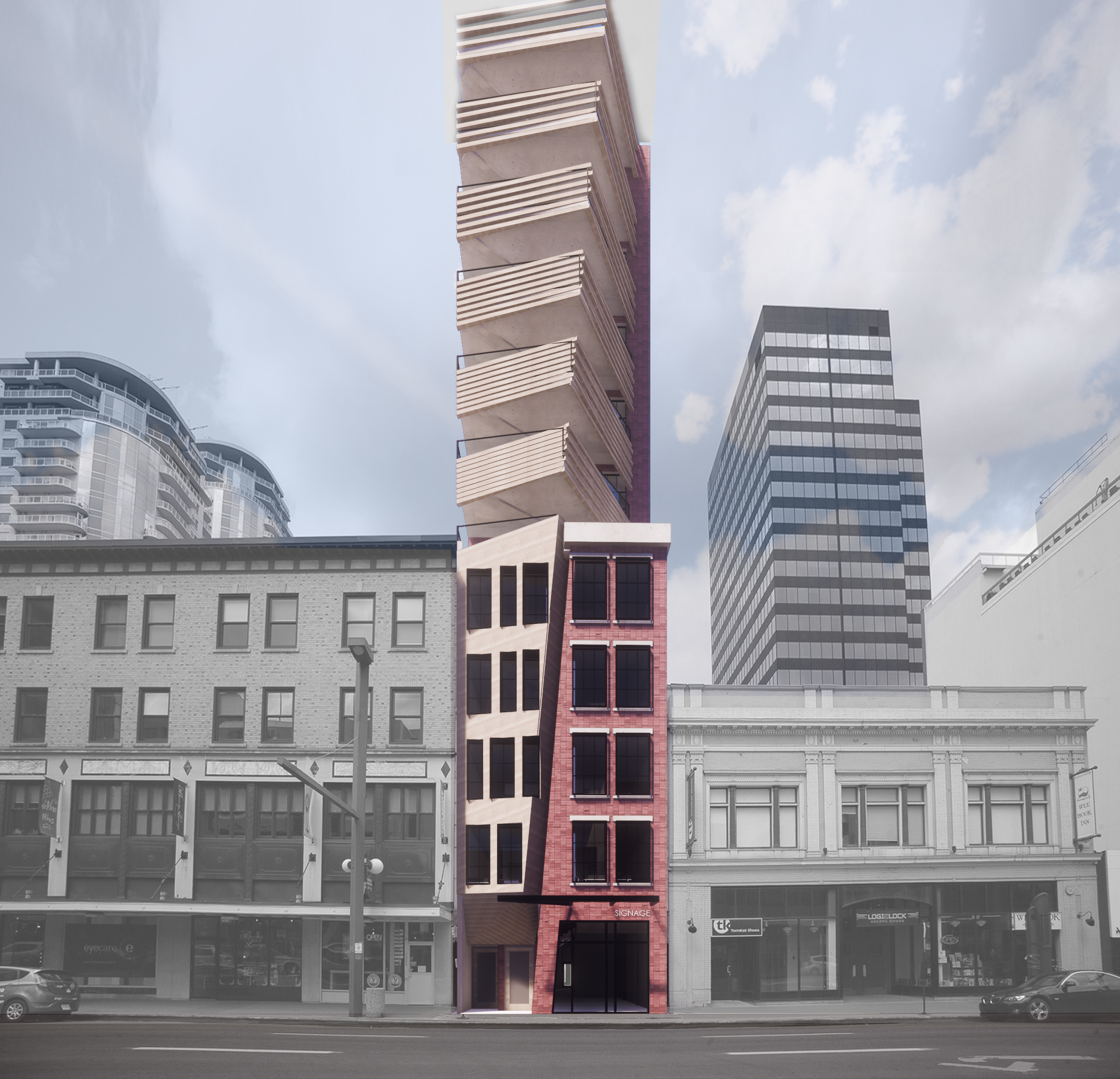 The Wedge - Jasper Avenue elevation, image courtesy Holo-Blok