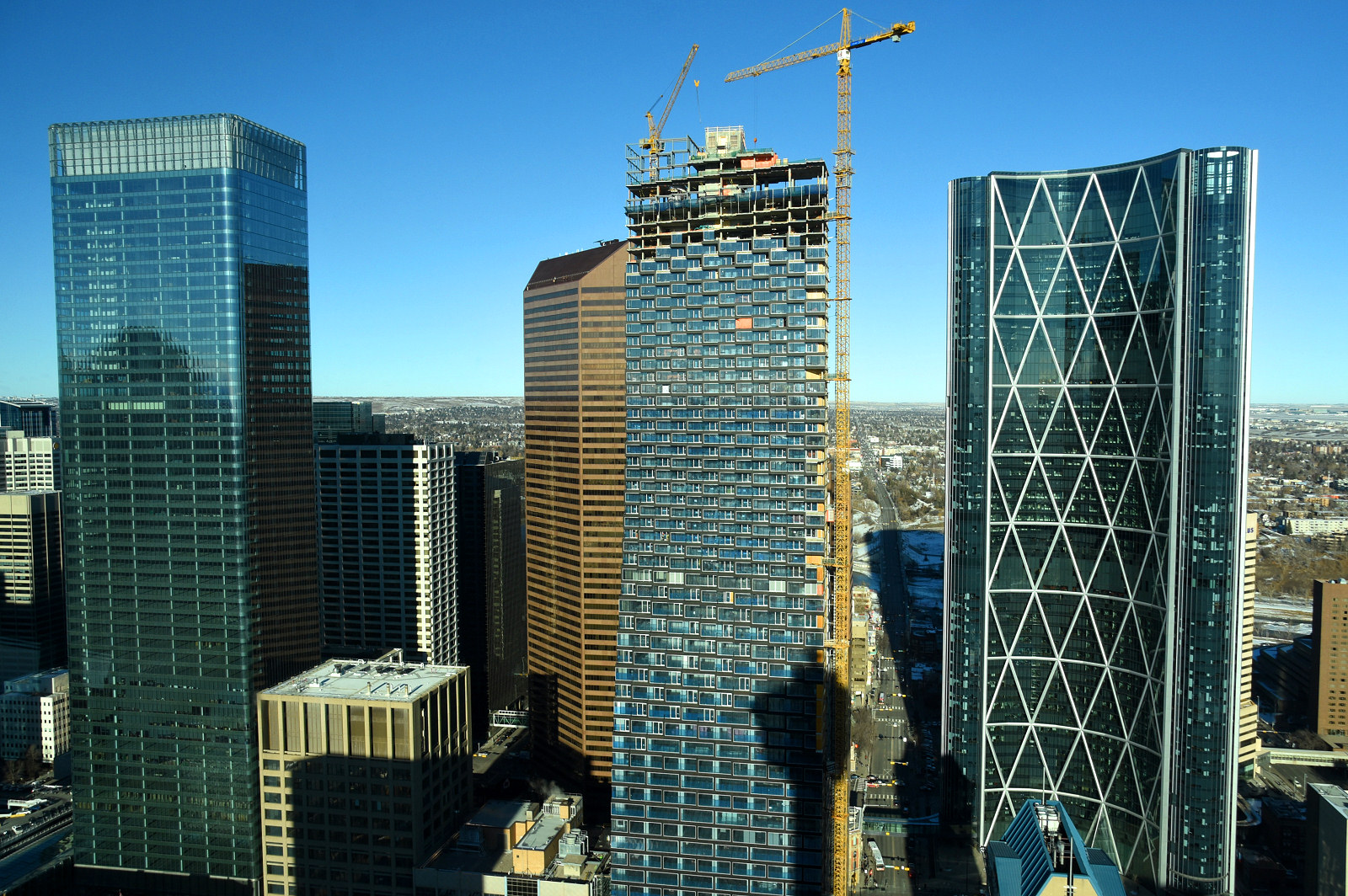Telus Sky Crown Construction Underway Skyrisecalgary