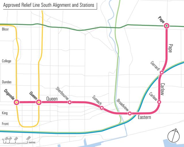 Toronto Subway Map Yonge Line.Build Relief Line Then Extend Yonge Subway Metrolinx Says