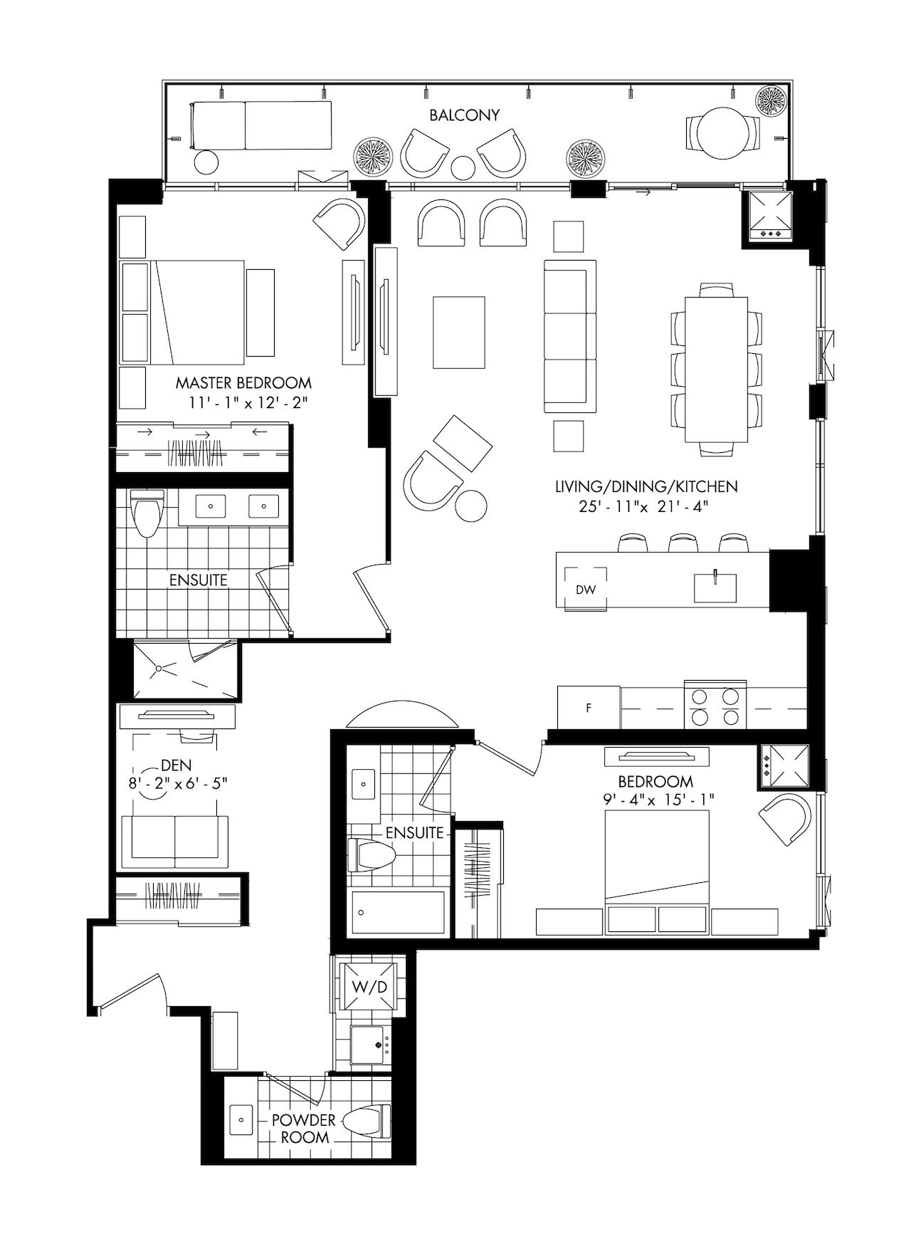 Range Of Suite Layouts Offered At Plaza S Bijou On Bloor Condominium Urbantoronto