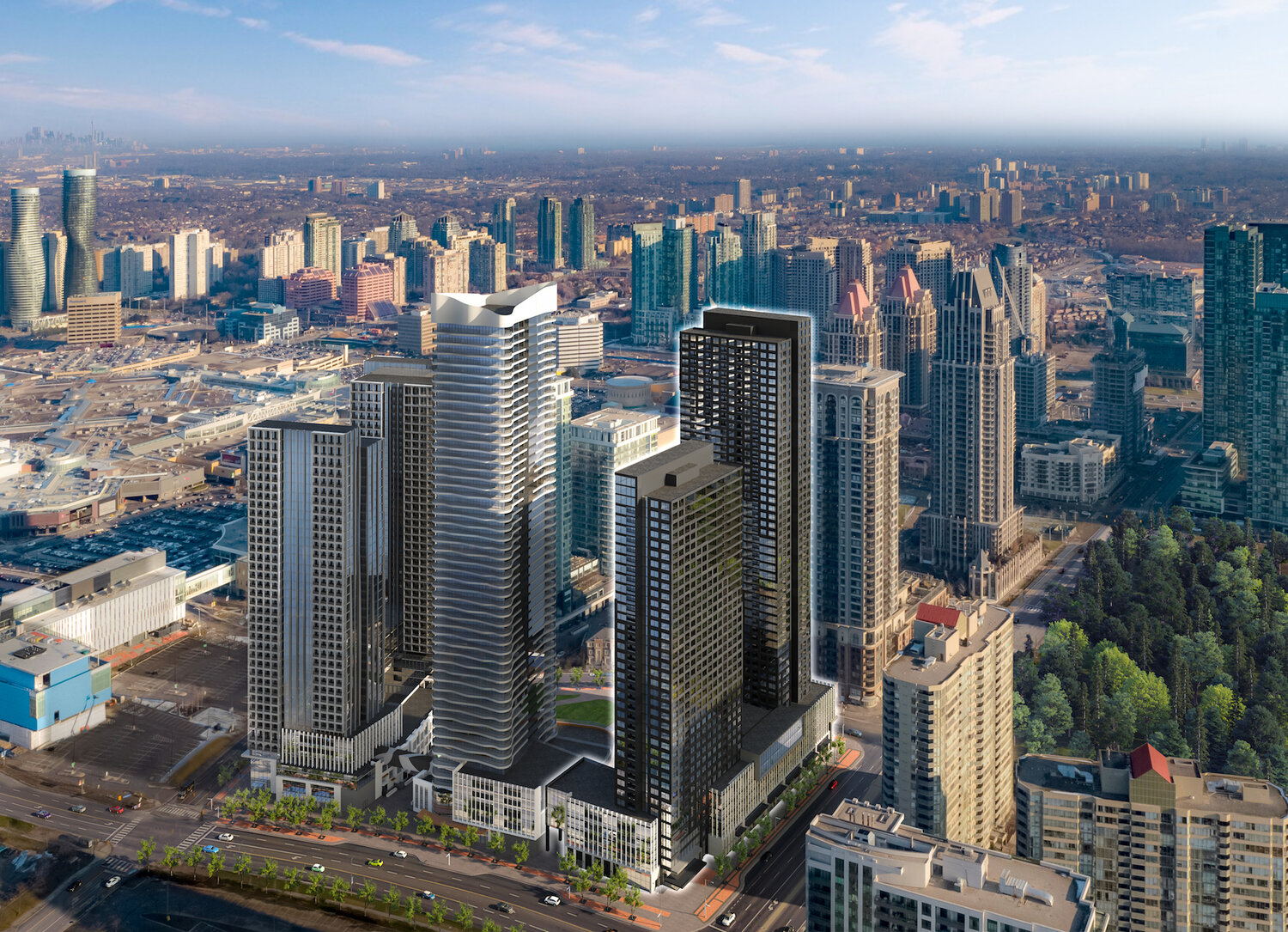 Square One District, Mississauga, IBI Group for Oxford Properties and Daniels