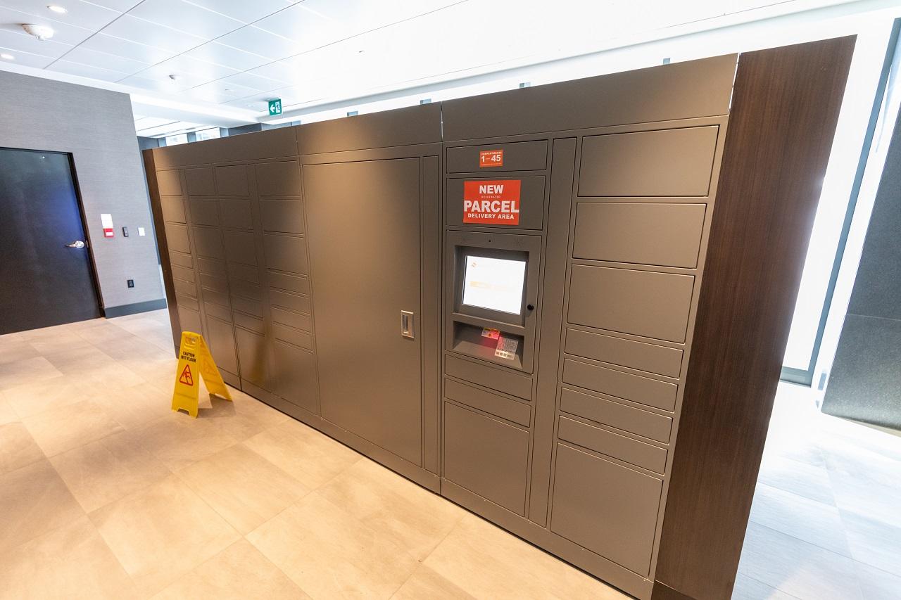 parcel storage lockers, Toronto, Covid-19