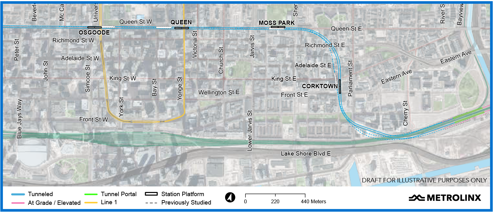 Metrolinx Fills In More Details of Downtown Section of Ontario Line