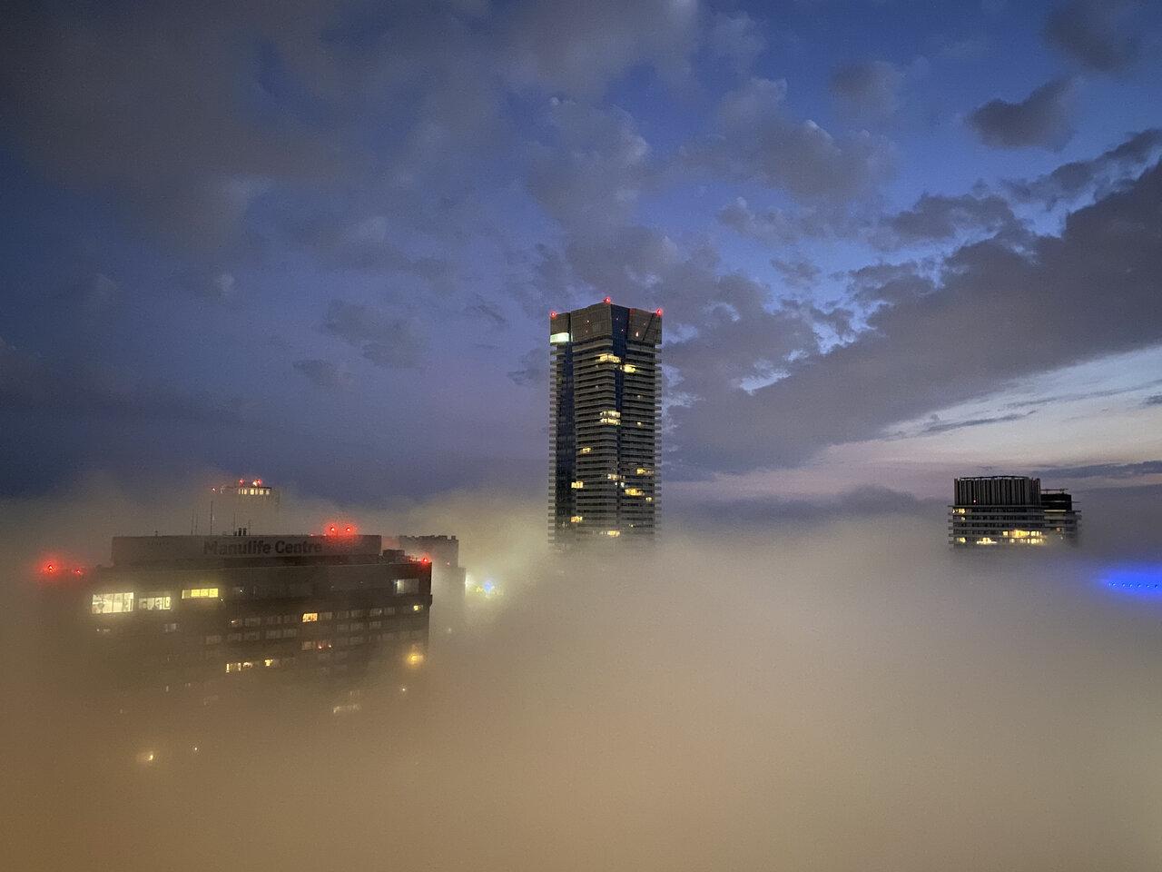 Daily Photo, Toronto, fog, One Bloor East