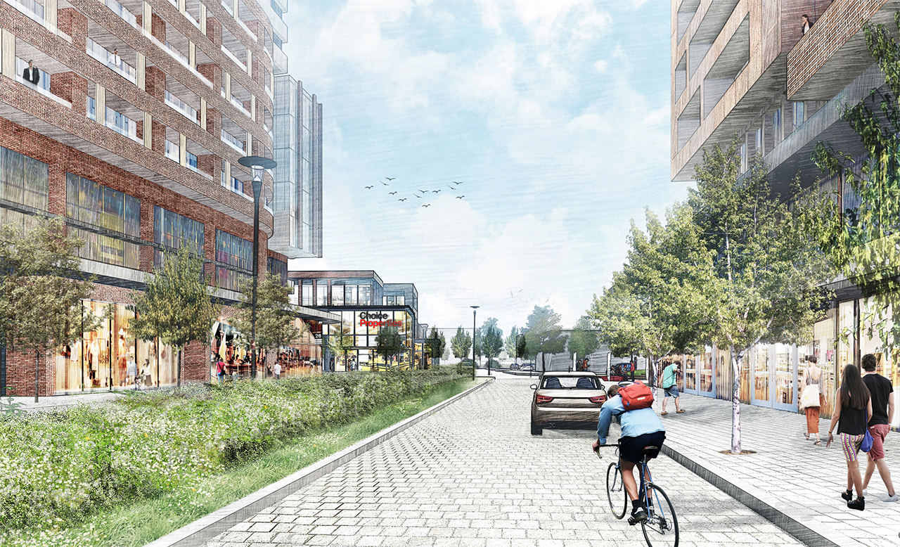 Golden Mile Shopping Centre Redevelopment, Toronto, designed by Giannone Petricone Associates for Choice Properties REIT