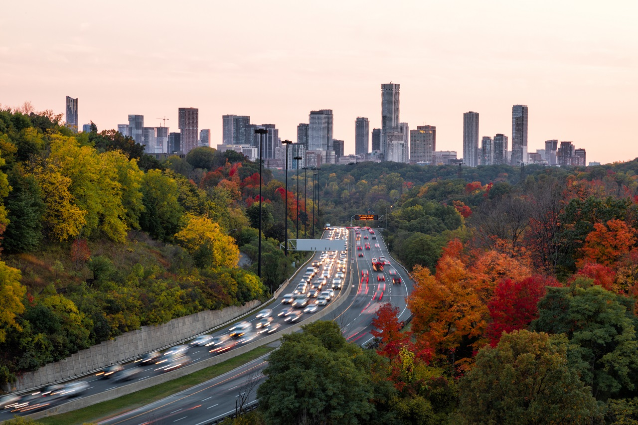 Throwback Thursday, Don Valley, Leaside Bridge, Millwood, Toronto skyline, Bloor Yorkville