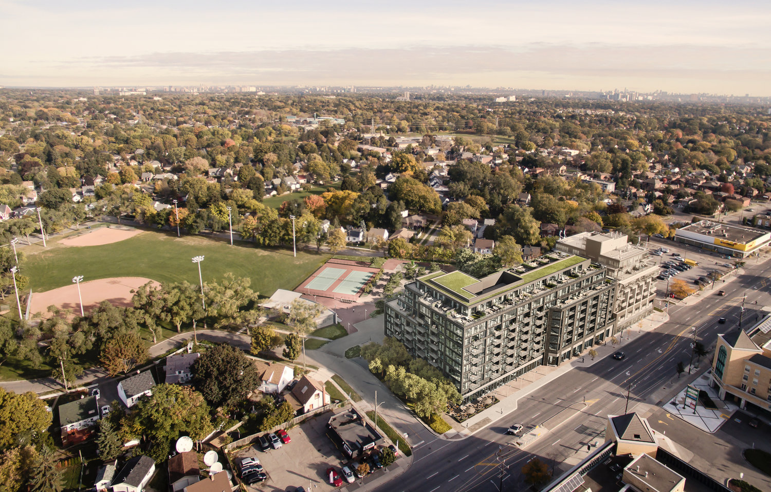 Queensway Park, Urban Capital, Rosewater, Toronto, RAW Design