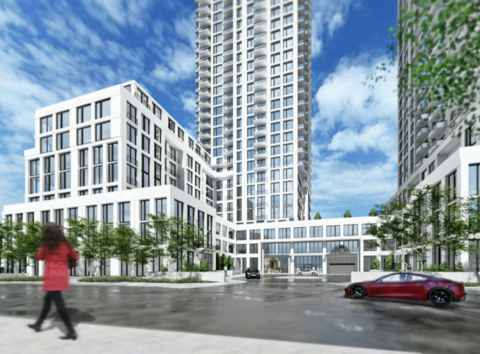 1875 Steeles Avenue West, Toronto, designed by Kirkor Architects and Planners for Tenblock.
