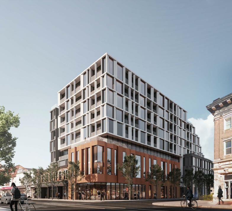 1360 Queen St W at Brock, Toronto, designed by Giannone Petricone Associates Inc. for developer Kingsett Capital.
