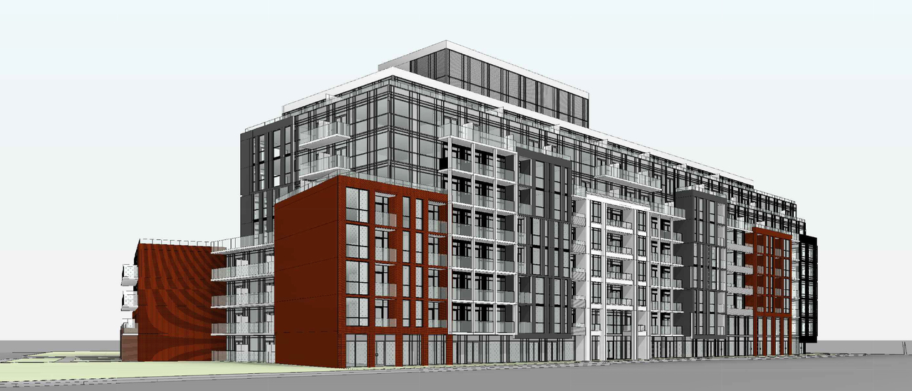 1615-1641 Kingston Road, Toronto, designed by Kohn Partnership Architects for Altree Developments