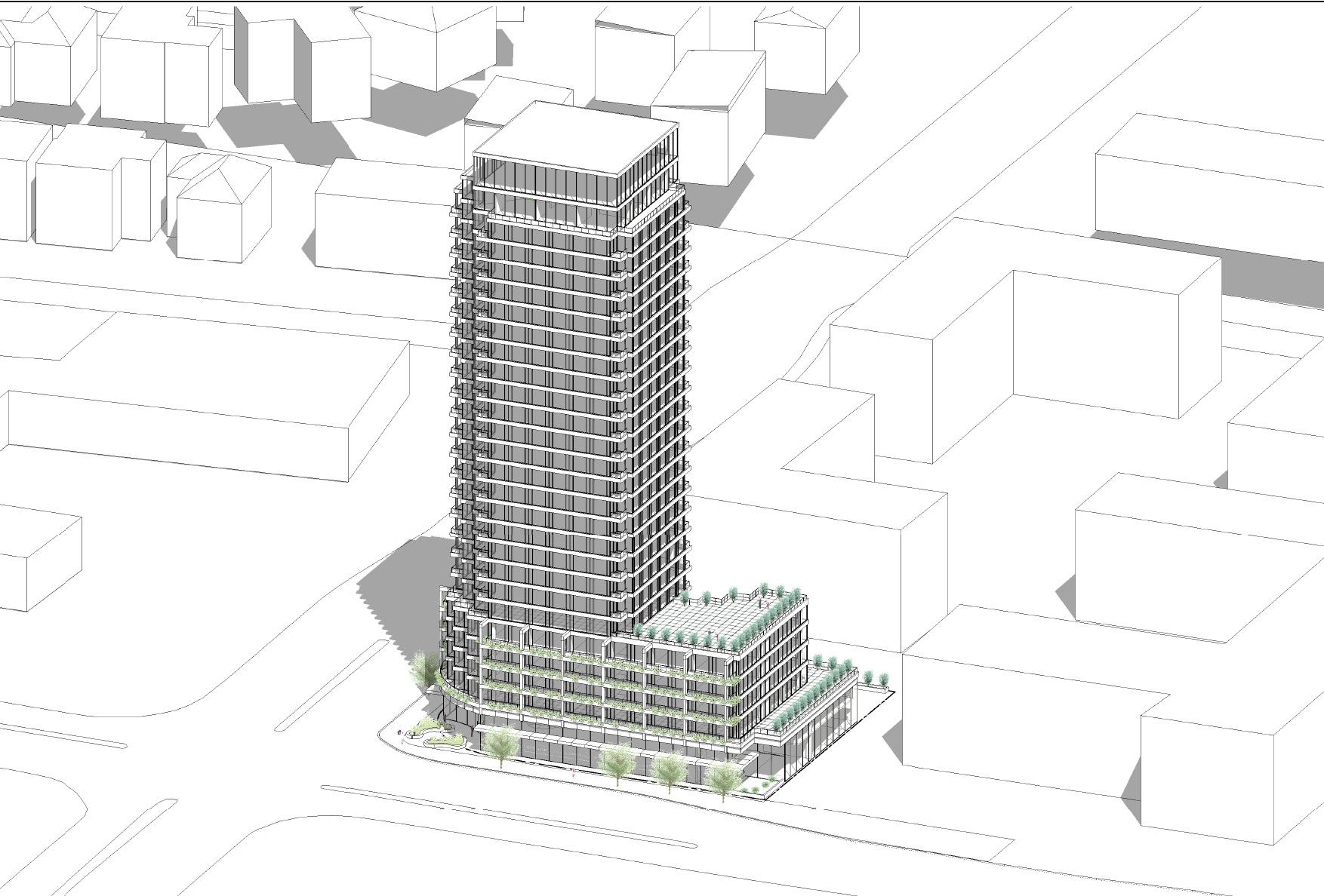 4926 Bathurst Street, Toronto, designed by IBI Group for Portal Developments Ltd.