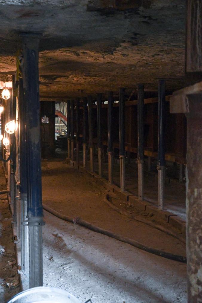 Underpinning at Line 1 Cedarvale Station, Toronto
