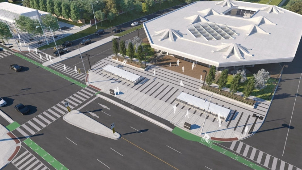 Rendering of the future Cedarvale Station, Toronto