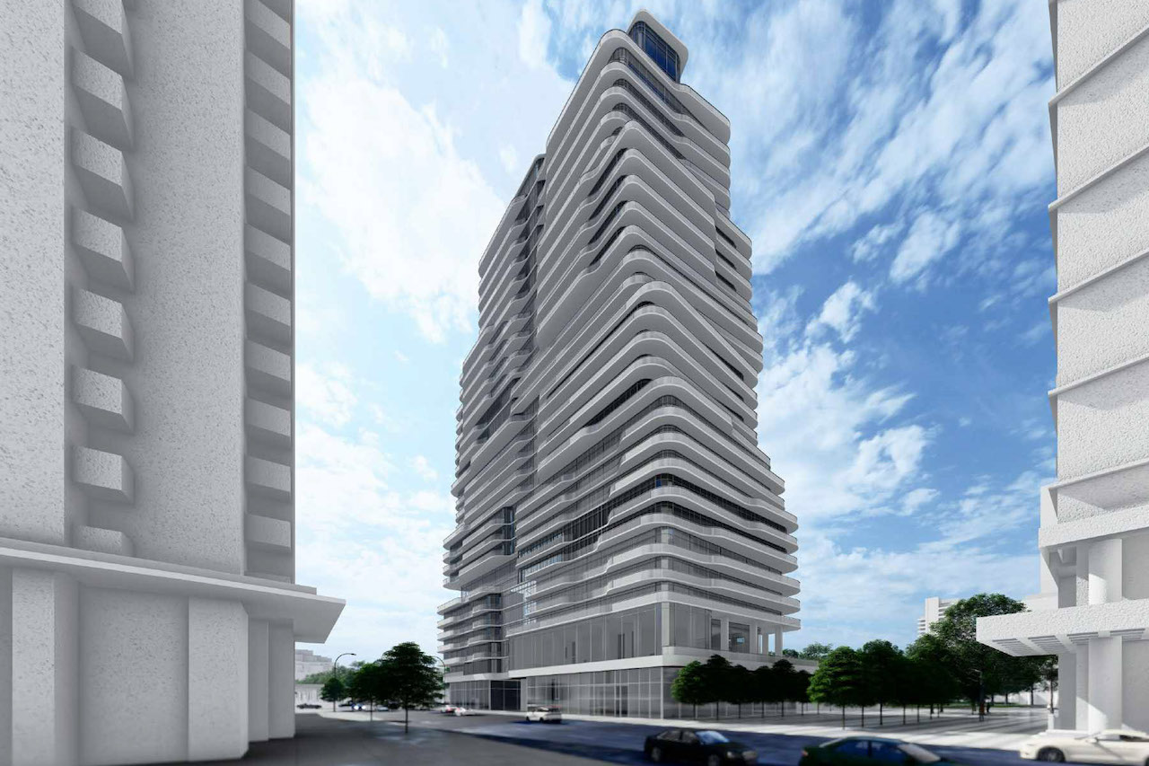 400 Front Street West, Toronto, designed by Kirkor Architects Planners for State Building Group and Stanford Homes.