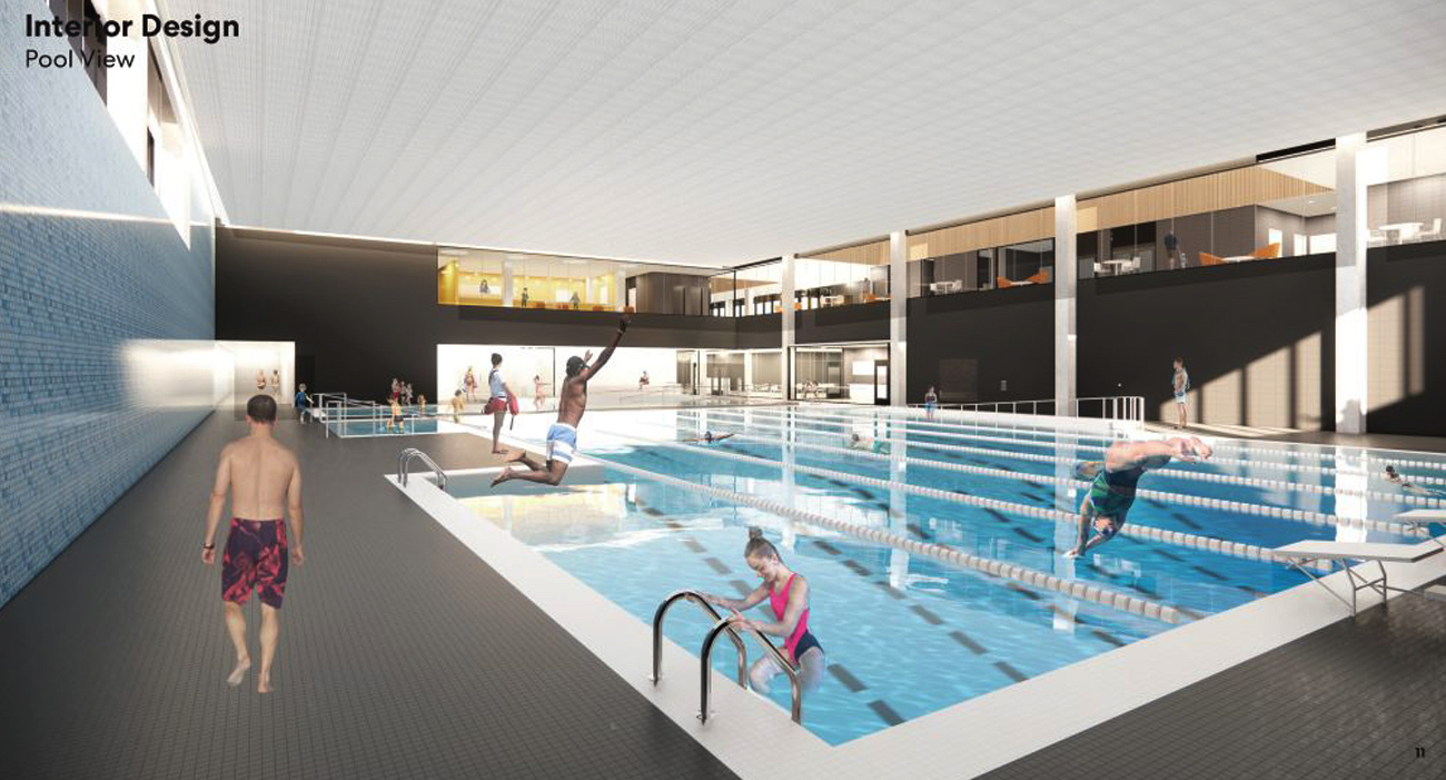 Rendering of North East Scarborough Community Centre pool, image via submission to City of Toronto