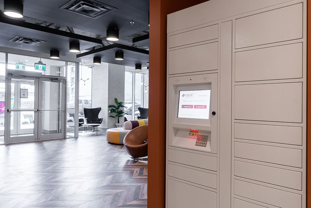 Snaile Inc., parcel storage lockers, contactless delivery, multi-residential, Toronto