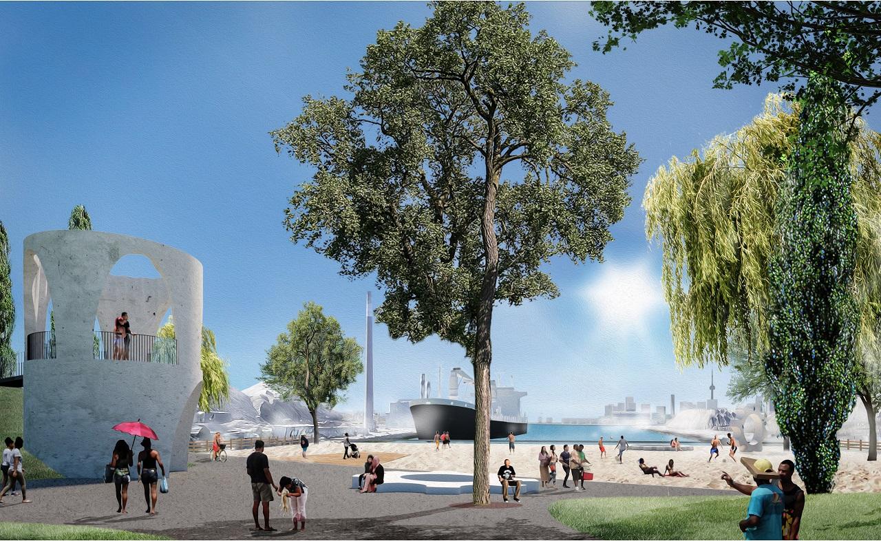 Leslie Slip Lookout Park, Toronto, designed by Claude Cormier + Associés for CreateTO