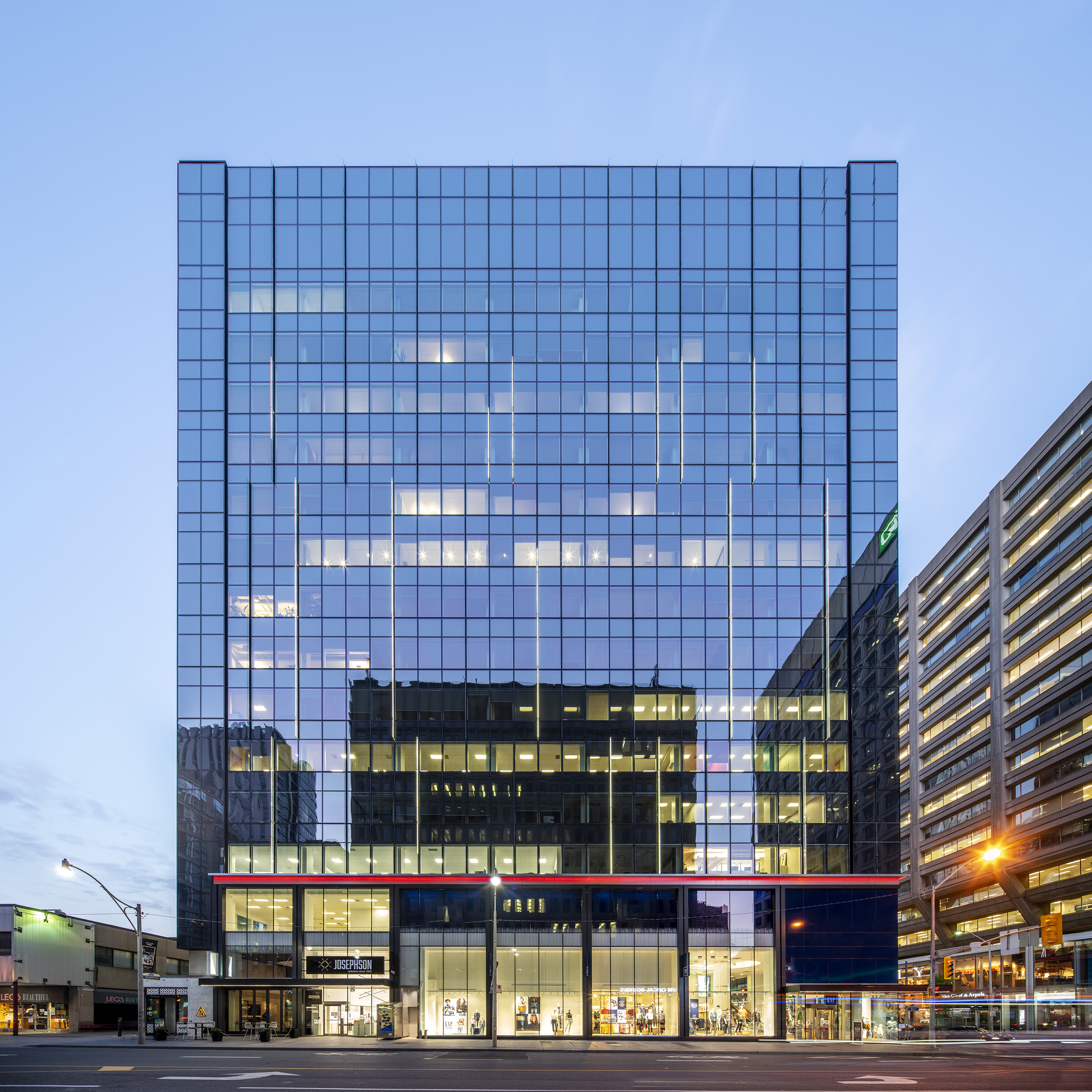 60 Bloor West, Toronto, renovations designed by B+H Architects for Morguard