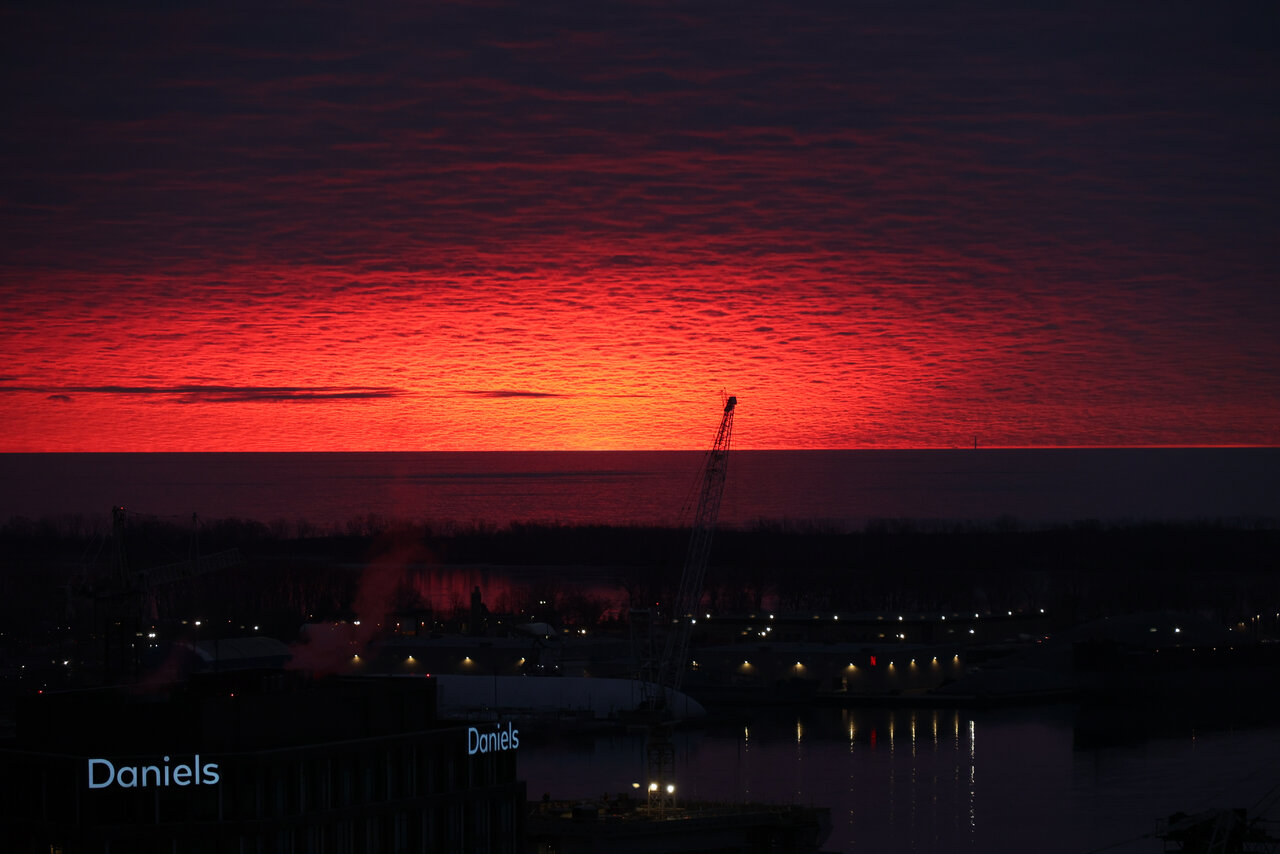 Daily Photo, Toronto, Port Lands, sunrise, Netflix, Daniels Waterfront, 130 QQE