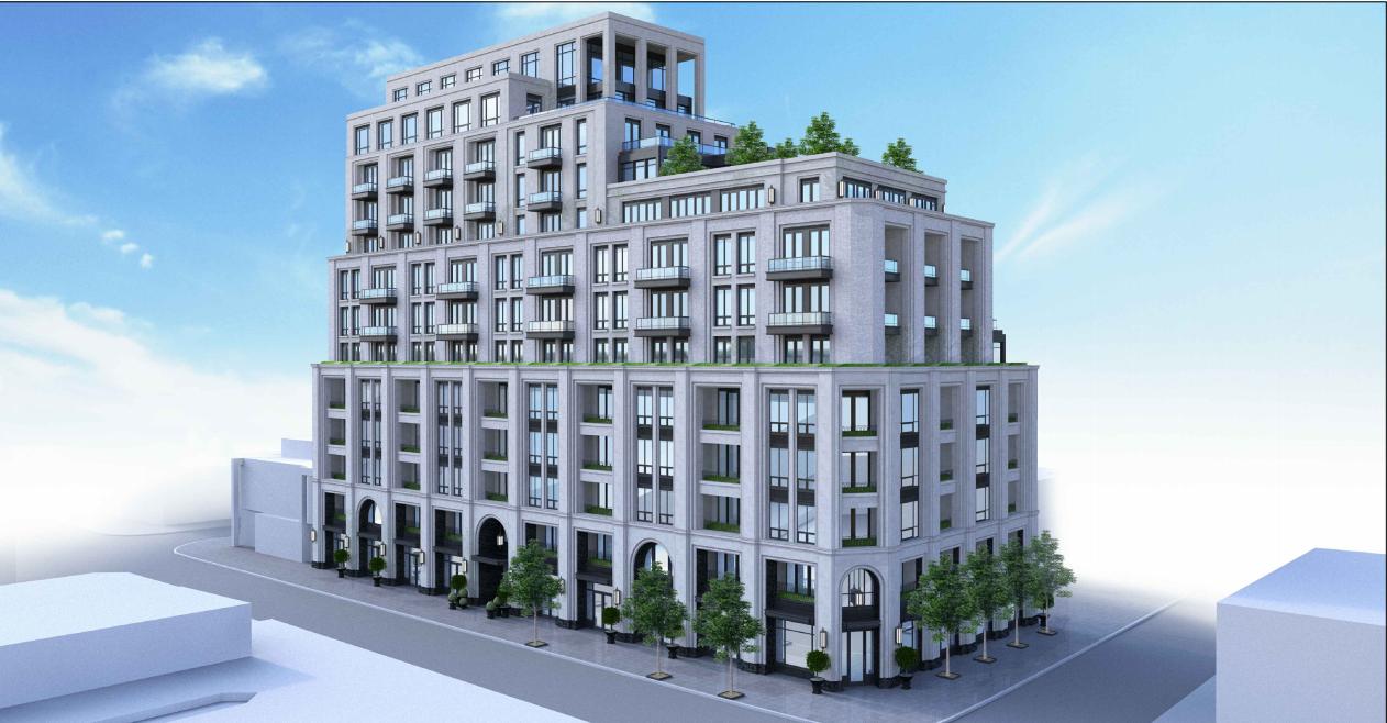 3180 Yonge Street, Toronto, designed by Richard Wengle Architect for NYX Capital