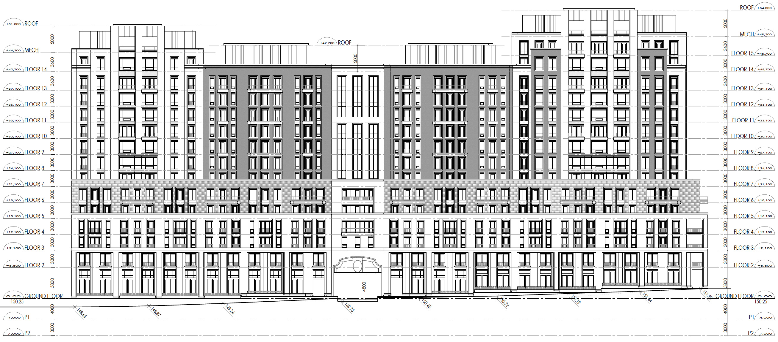 175-195 St Clair W, Toronto, designed by Richard Wengle Architect Inc. for Plaza Partners.