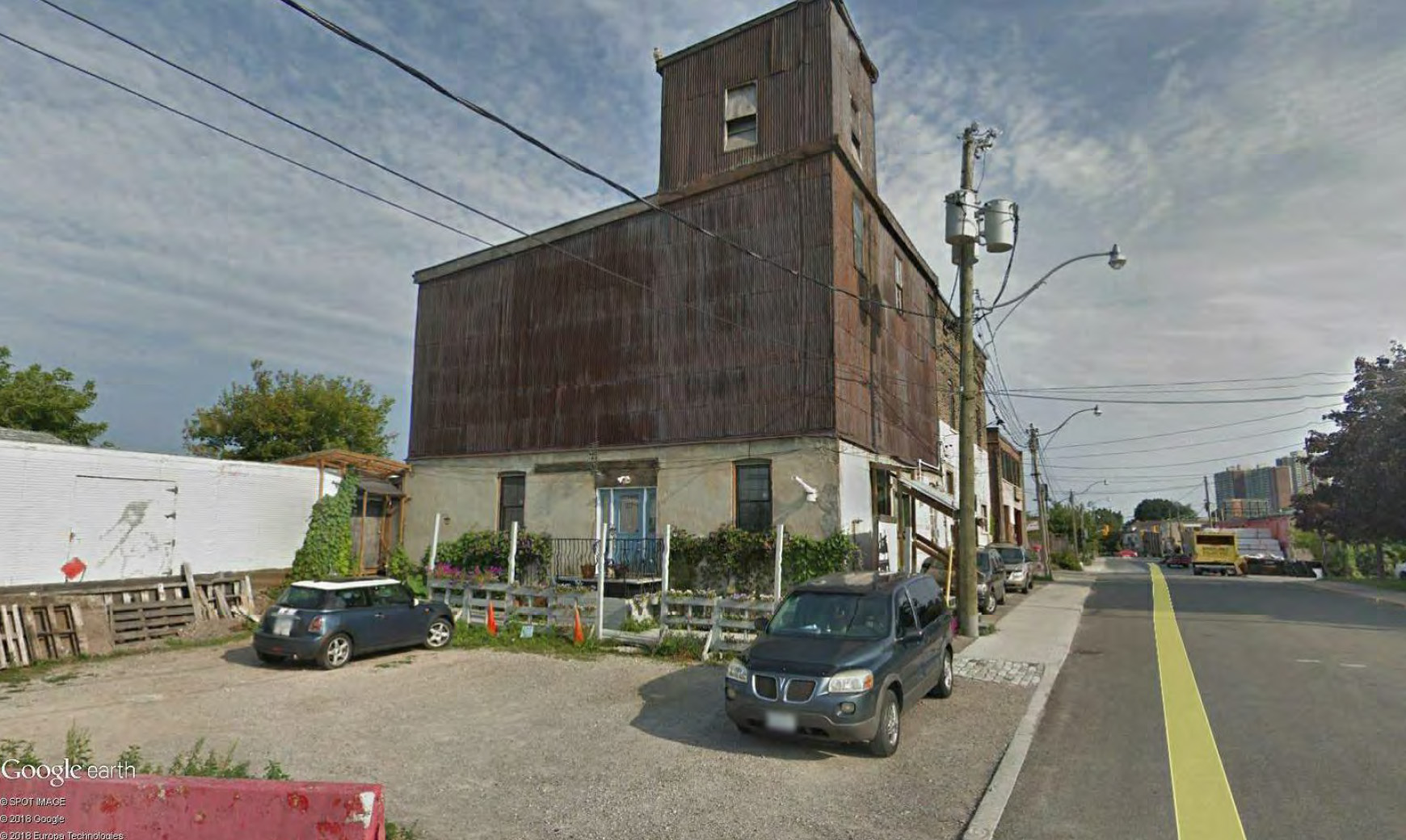 Current site condition, 10-30 Dawes Rd, Toronto, designed by IBI Group for Marlin Spring Developments