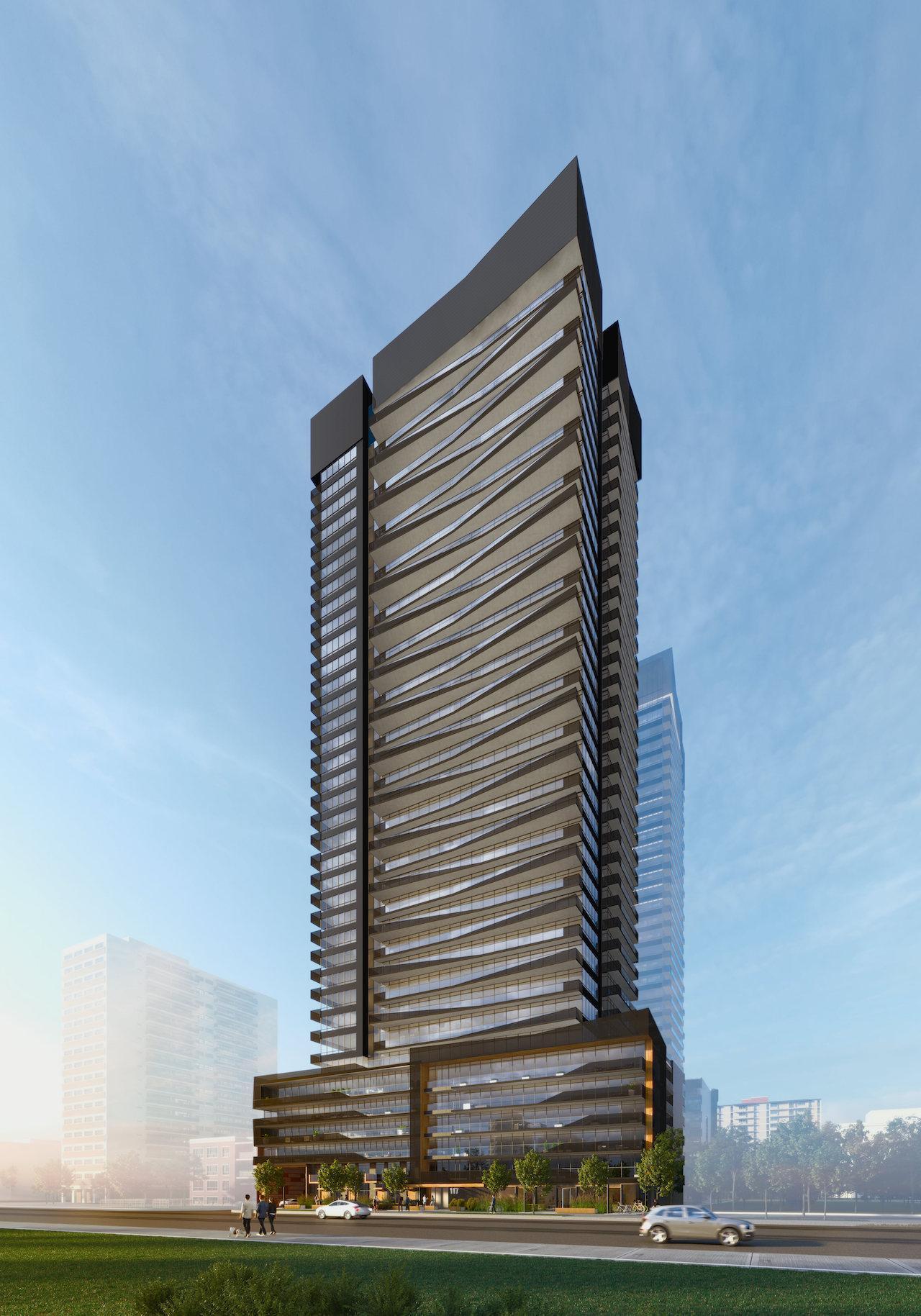 Line 5 Condos, Toronto, designed by IBI Group for Reserve Properties and Westdale Properties
