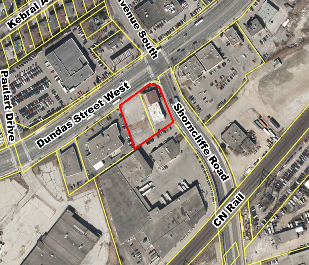 Site of the Proposal, 5509 Dundas Street West, BNKC