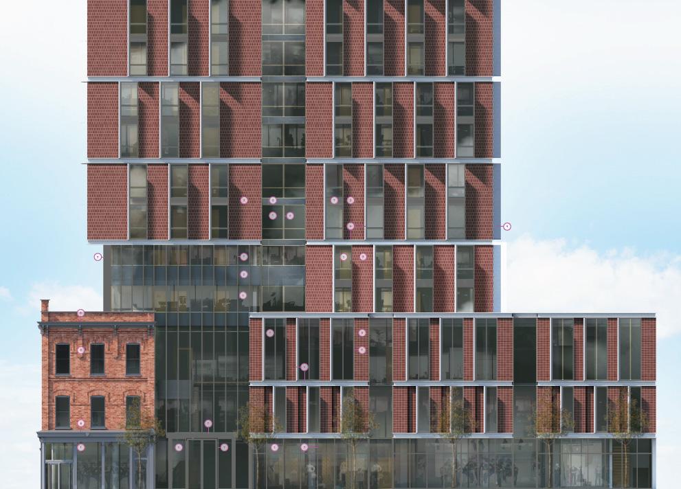 Spadina Sussex Residence University of Toronto, Toronto, designed by Diamond Schmitt Architects for University of Toronto, The Daniels Corporation