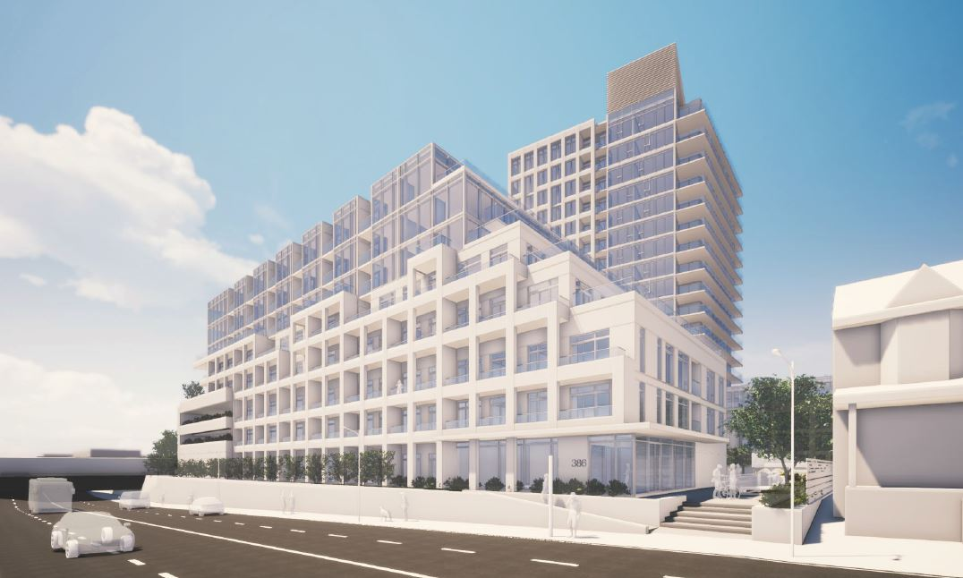 East Junction Condos, Toronto, designed by TACT Architecture Inc. for Limen Developments.
