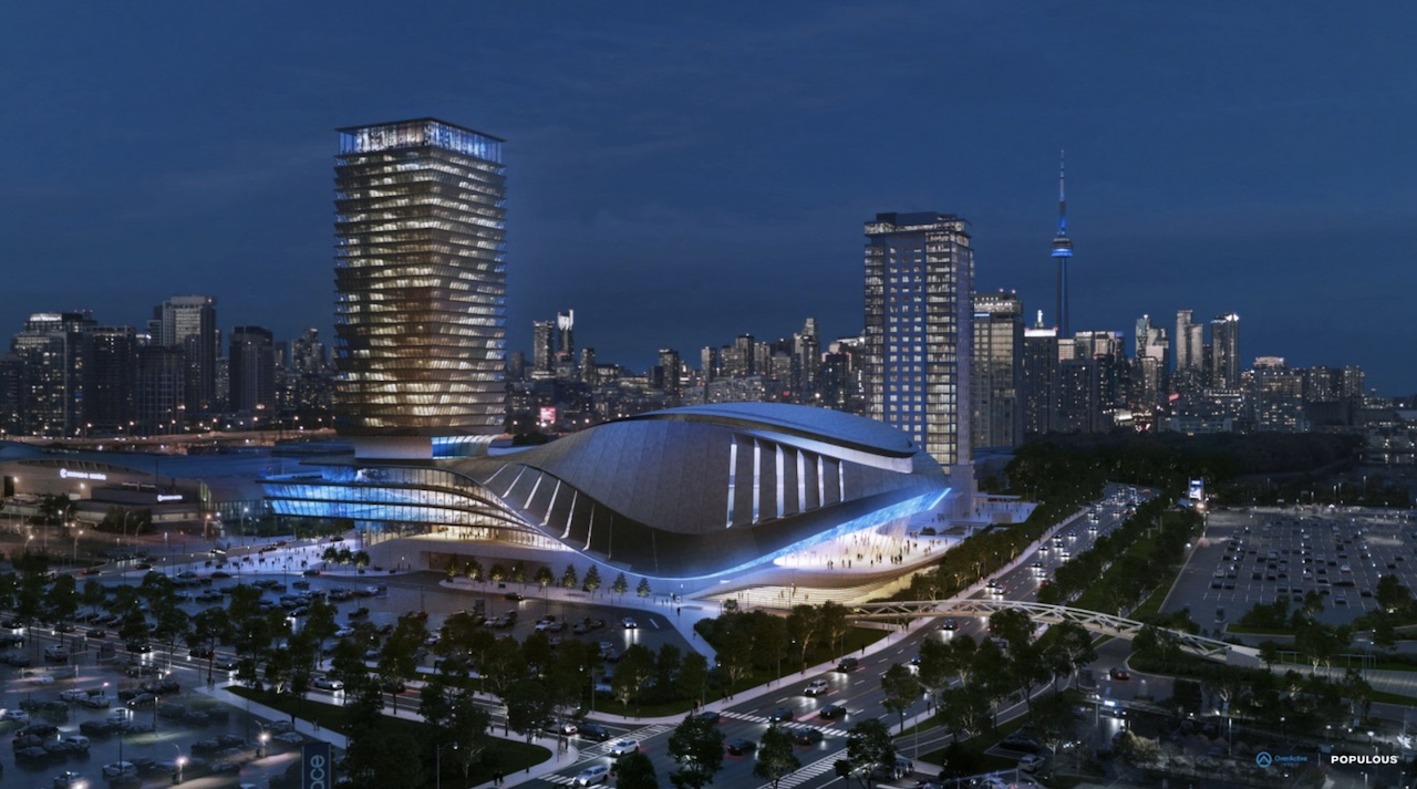 Esports Performance Venue and Hotel, Toronto, designed by Populous for OverActive Media